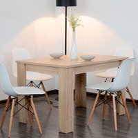 Modern Rectangular Natural Wooden Dining Table