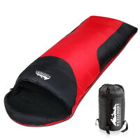 Single Camping Envelope Sleeping Bag Red Blue
