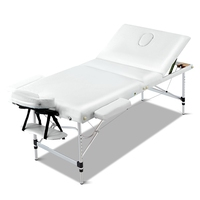 Portable 3 Fold Massage Table Chair Bed White 75cm
