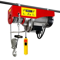 MachT Electric Hoist Winch in Red 1300W 400/800kg