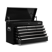 Heavy Duty Lockable 9 Drawer Metal Tool Box Black