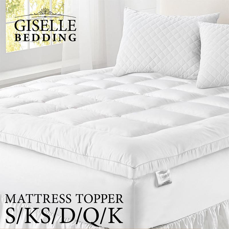 super soft microfibre mattress toppers in 5 sizes buy. Black Bedroom Furniture Sets. Home Design Ideas