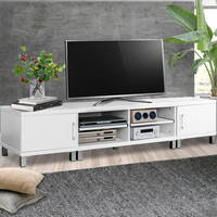3 Piece TV Entertainment Unit Set in White 190cm