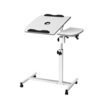 Rotating Mobile Laptop Desk with USB Cooler White