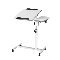 Adjustable Portable Laptop Small Work Desk in White
