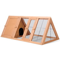 Triangle Rabbit Guinea Pig Fir Wood Cage Hutch