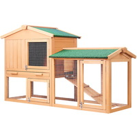 Double Rabbit Guinea Pig Hutch w/ Under Run 138cm