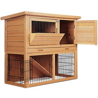 2 Level Small Pet Run Guinea Pig Cage Rabbit Hutch