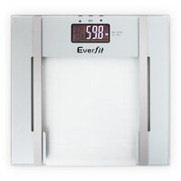Electronic Body Fat & Hydration Glass Scale White
