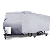 Med 4 Layers 4 Side Open Caravan Cover and Straps