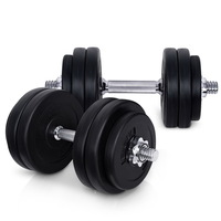 Everfit Steel Fitness Home Gym Dumbbell Set 30Kg