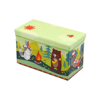 Kids Foldable Storage Toy Box Light Green Buy Kids Toy Boxes