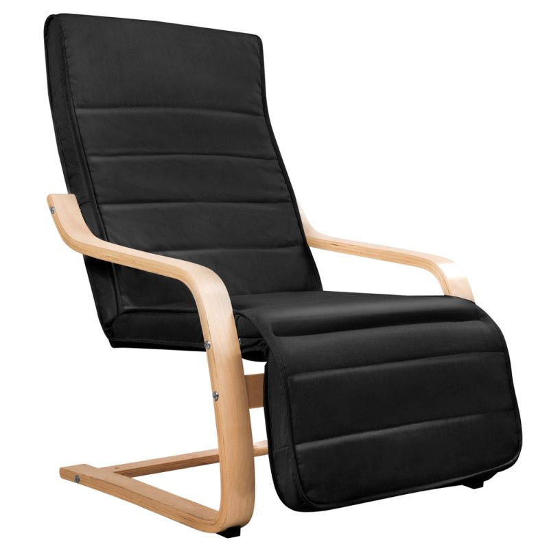Birch Wood Cotton Ergonomic Lounge Arm Chair Black Buy