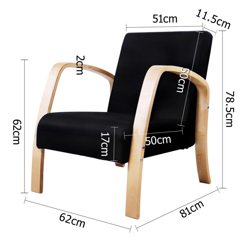 Birch Plywood Amp Fabric Lounge Armchair In Black