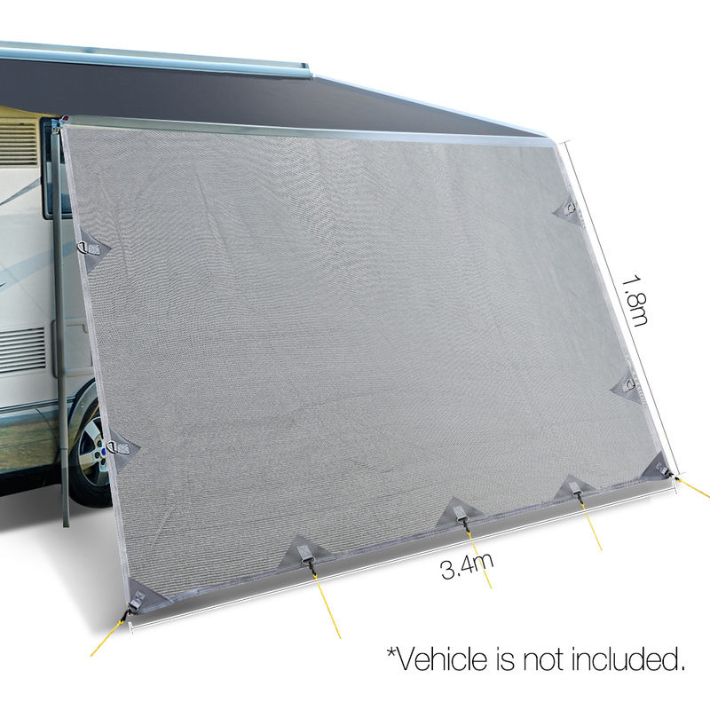 Weisshorn Caravan Roll Out Awning 3 4 X 1 8m Grey Buy