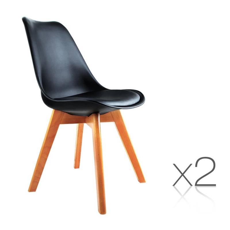 Replica Eames Black PU Leather Dining Chairs x 2 Buy  : BA BB DSW PU BKX2 00 from www.mydeal.com.au size 800 x 800 jpeg 58kB