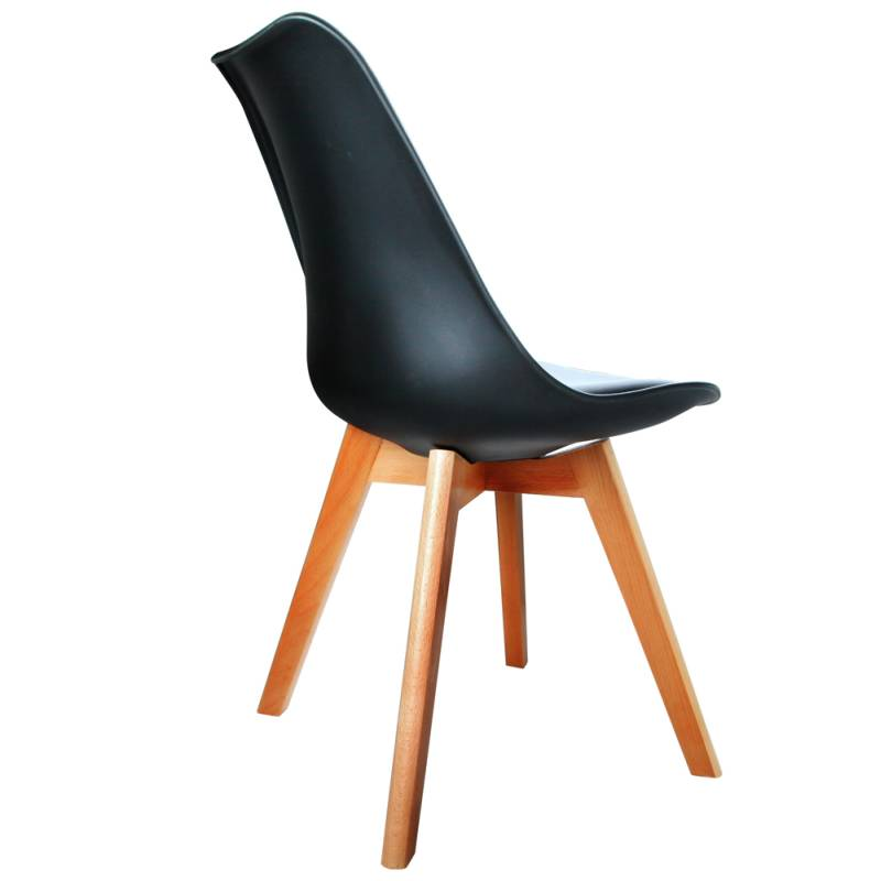 eames pu leather dining chairs in black buy eames dining chairs