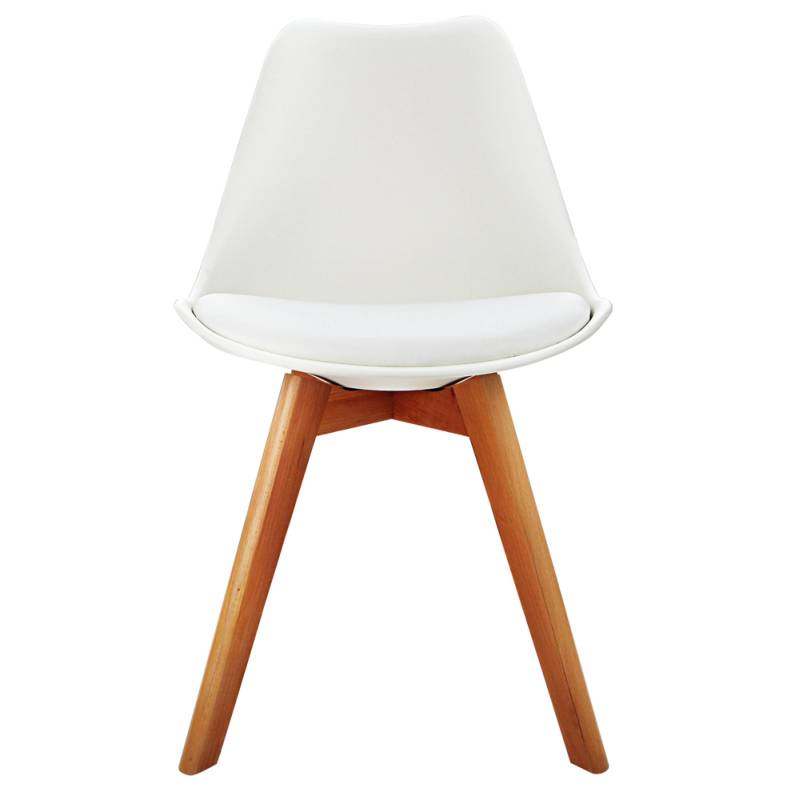 Attrayant 4x Replica Eames PU Leather Dining Chairs In White
