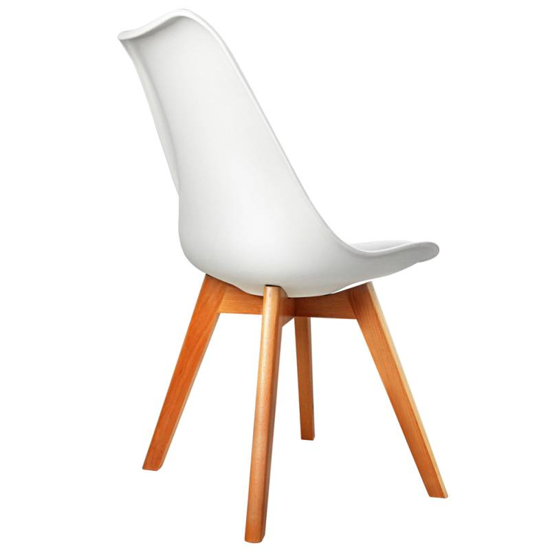 4x Replica Eames PU Leather Dining Chairs in White Buy  : BA BB DSW PU WHX4 03 from www.mydeal.com.au size 800 x 800 jpeg 51kB