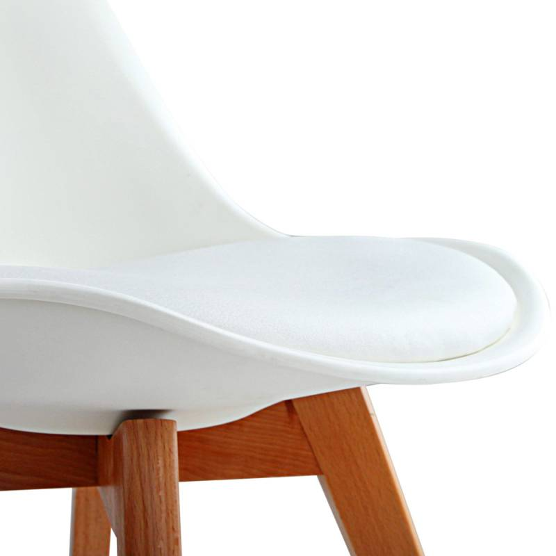 4x Replica Eames PU Leather Dining Chairs in White Buy SALE