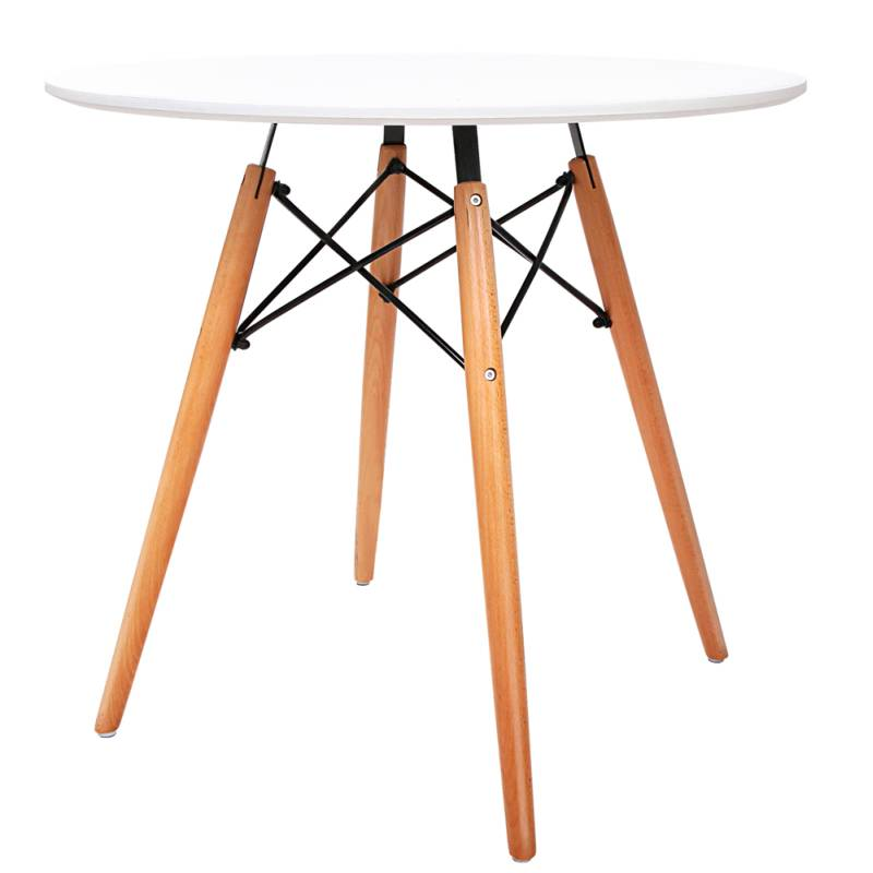 Artiss Round Wooden Dining Table White Buy Dining