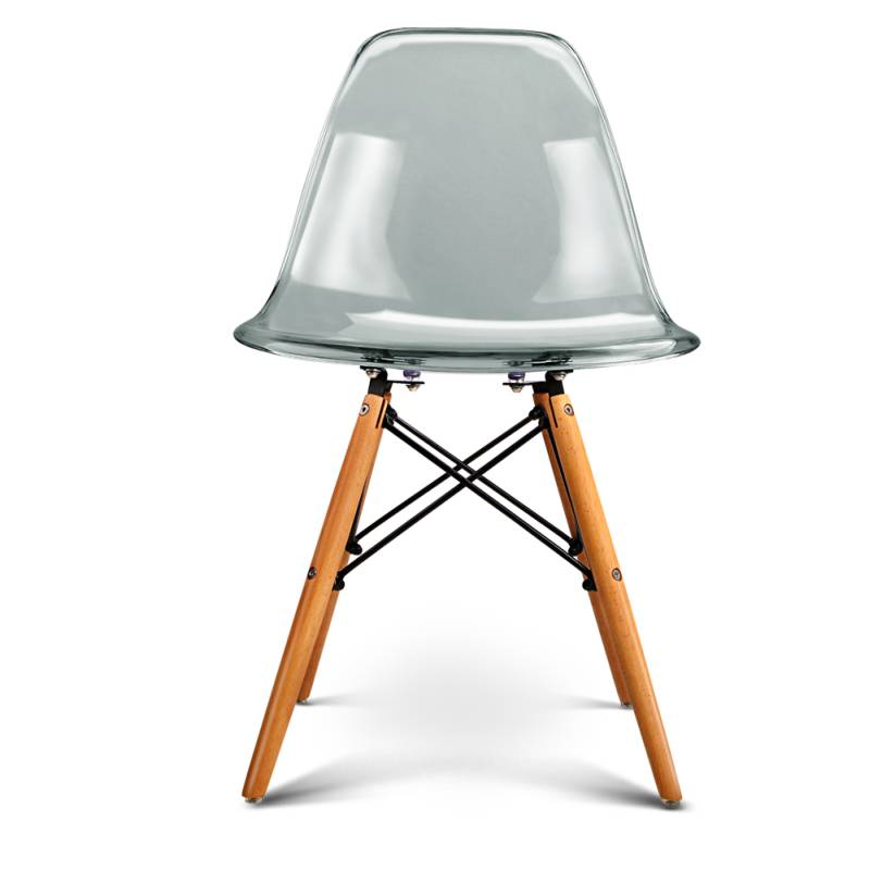 4x Replica Eames Dining Chairs in Transparent Grey Buy  : BA BB DSW TRANSX4 02 from www.mydeal.com.au size 800 x 800 jpeg 46kB