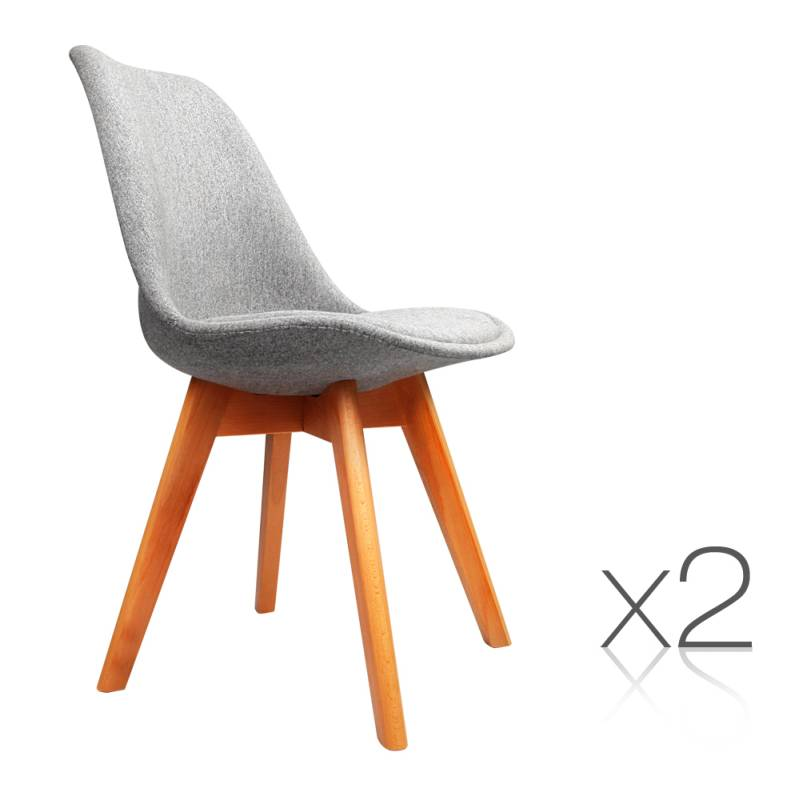 2x Replica Eames Padded Fabric Dining Chairs Grey Buy  : BA BB DSW55B LI GYX2 00 from www.mydeal.com.au size 800 x 800 jpeg 75kB