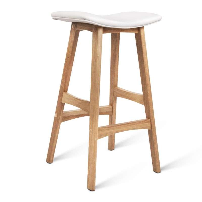 Set Of 2 Oak Wood Bar Stools White Buy Sets Of 2