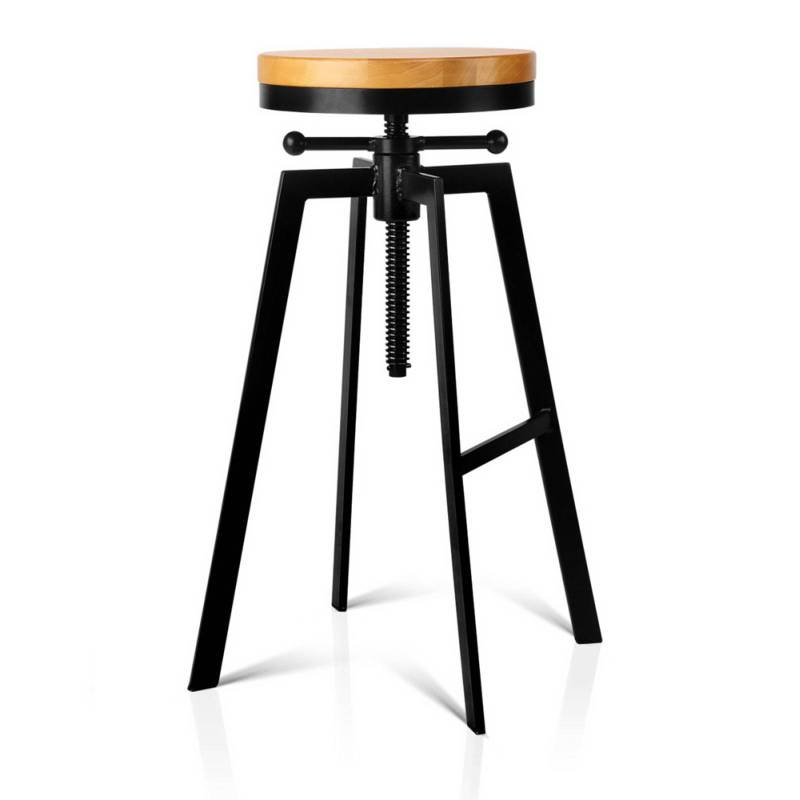 Artiss Adjutable Height Swivel Bar Stool Black Buy Bar