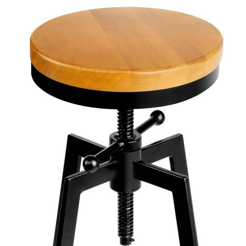 Vintage Industrial Bar Stool With Adjustable Height Buy