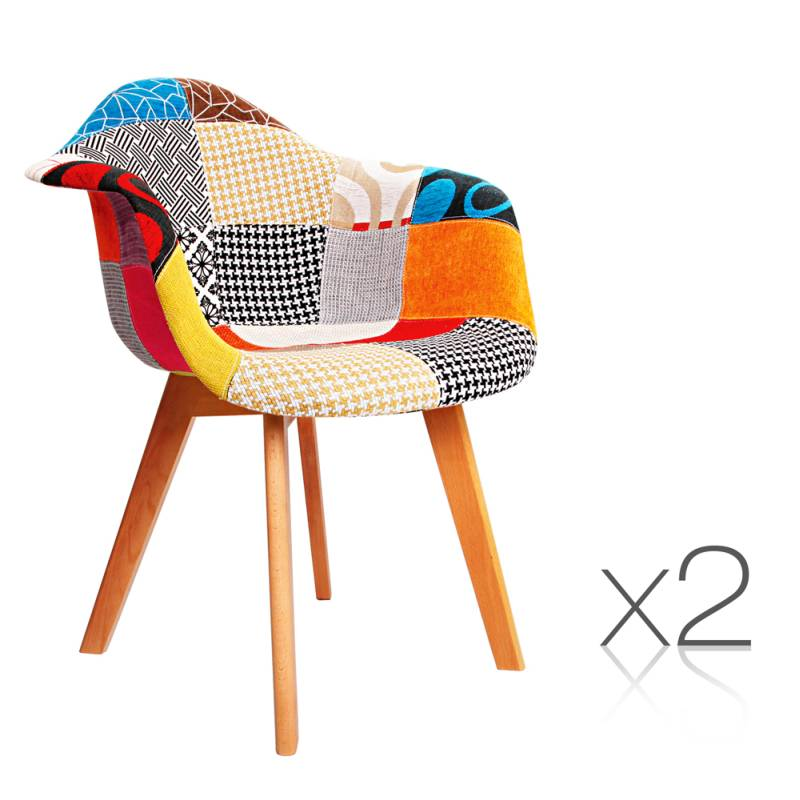 2x Fabric Armchairs Eames Replica with Wooden LegsEames Dining Chairs   Sit Down At The Table With Style. Eames Saarinen Replica Organic Chair Perth. Home Design Ideas