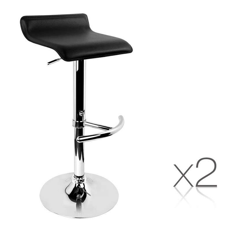 2pc PVC Leather Kitchen Bar Stools in Black Buy Sets of 2 : BA TW NEWT706 BK X200 from www.mydeal.com.au size 800 x 800 jpeg 58kB