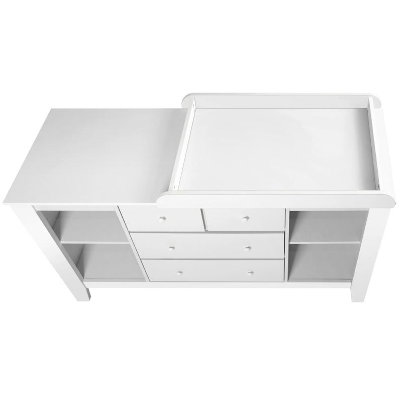 Baby Change Table Station With 4 Drawers In White Buy