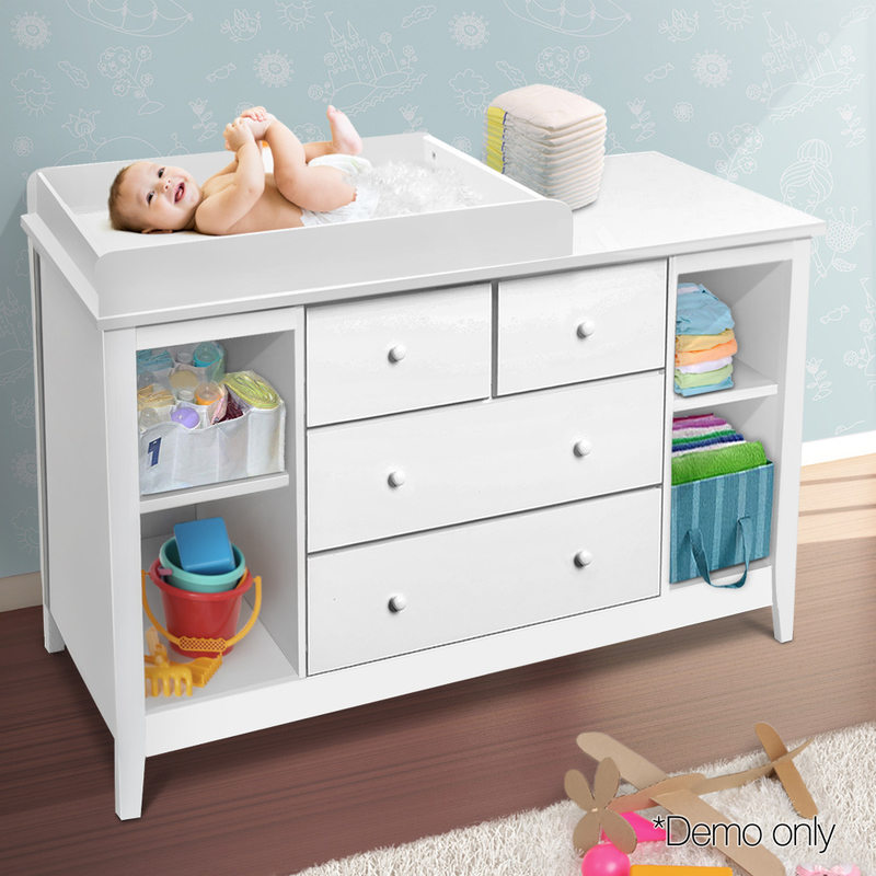 drawers decor diy white table unit with baby information changing organization