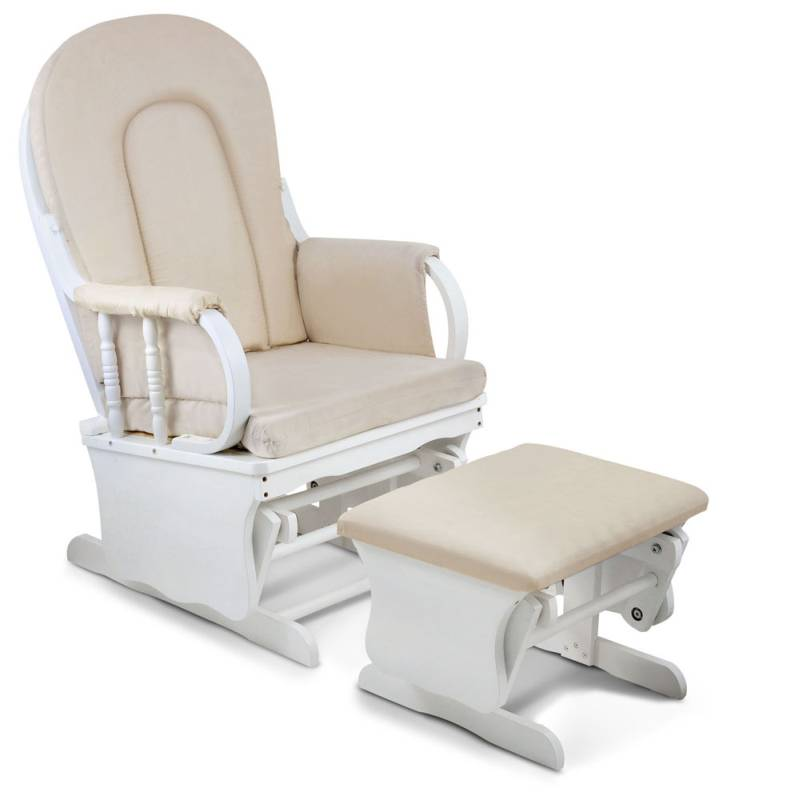 Breastfeeding Rocking Glider Chair W Ottoman White Buy