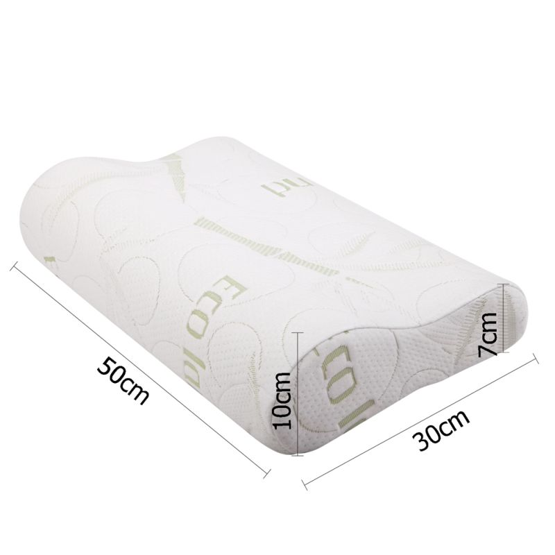 2 Fabric Cover Contour Memory Foam Pillow 50x30cm Buy