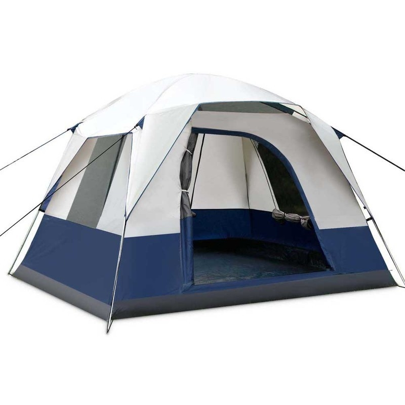 h m s Remaining  sc 1 st  MyDeal & 4 Man Person Family Camping Tent in Navy Grey | Buy Tents