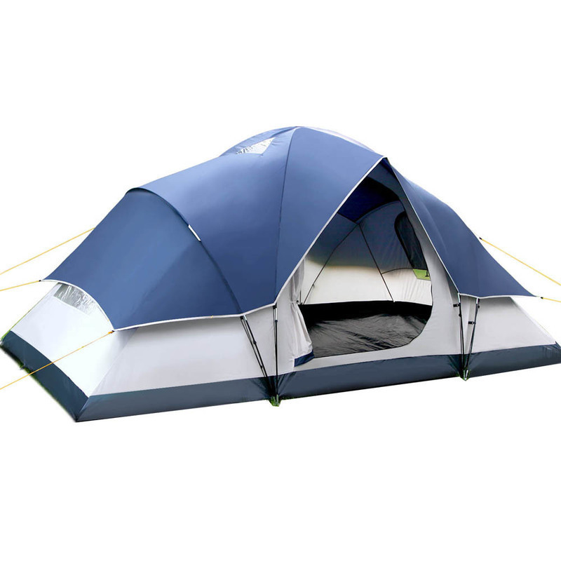 6 Person Family Dome Camping Tent In Navy Grey Buy Tents
