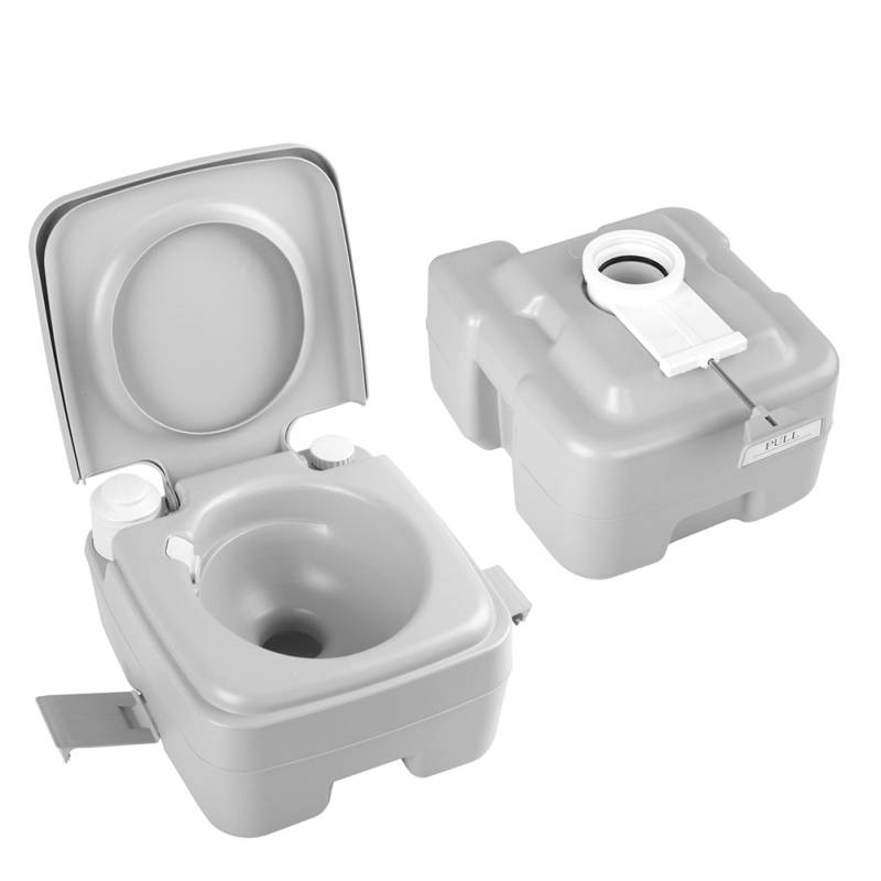 M And T Portable Toilets : Camping pump flush portable toilet w bag l buy