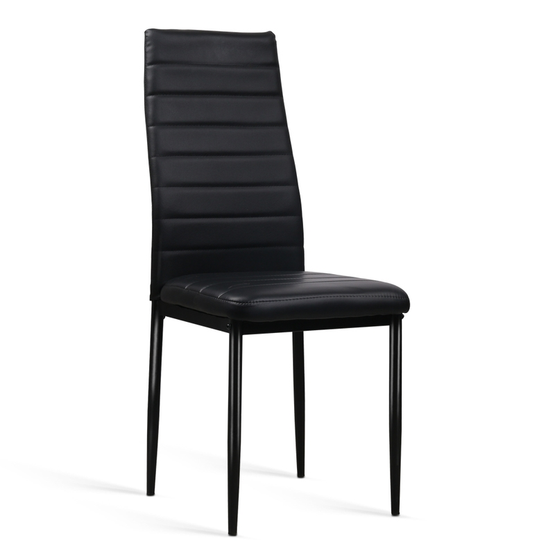 artiss set of 4 dining chairs pvc leather black buy sets of 4 315133. Black Bedroom Furniture Sets. Home Design Ideas