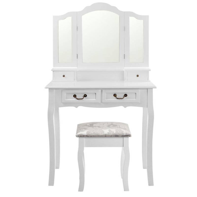 4 Drawer Dressing Table W Mirror Amp Stool In White Buy