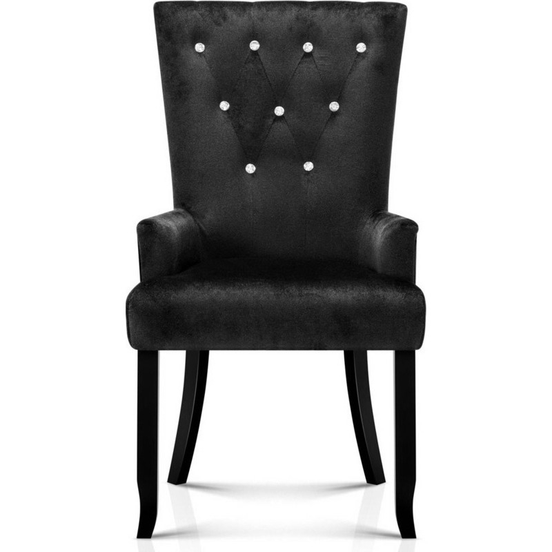 Polyester French Provincial Dining Chair in Black Buy  : FA CHAIR DIN116 BK02 from www.mydeal.com.au size 800 x 800 jpeg 100kB