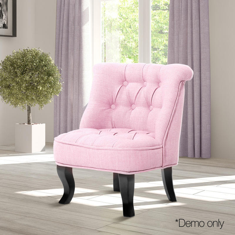 Kids Fabric Tufted Chesterfield Armchair Light Pink | Buy Kids Sofas