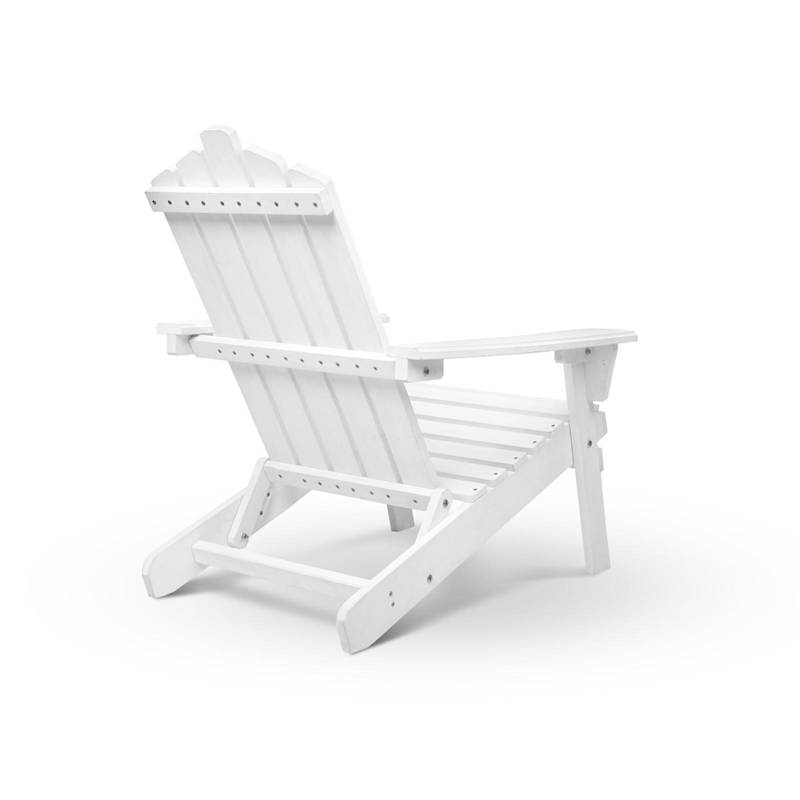 3pc Adirondack Chairs and Side Table Set in White