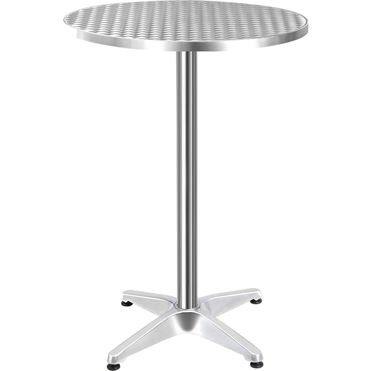 Stainless Steel Adjustable Round Bar Table 60cm