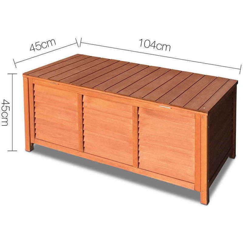 Fir Wood Outdoor Storage Box Bench 104 X 45cm. H M S Remaining