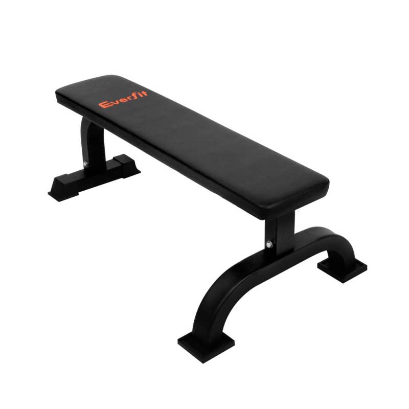 Everfit Gym Flat Weight Exercise Bench In Black Buy Exercise Benches