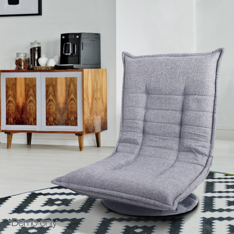 360 Degree Swivel Foldable Floor Chair In Grey Buy Floor