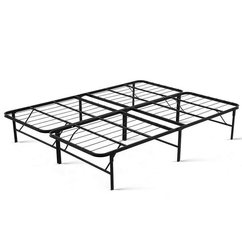 Artiss Folding Bed Frame Queen - Black | Buy Queen Size Bed Base ...