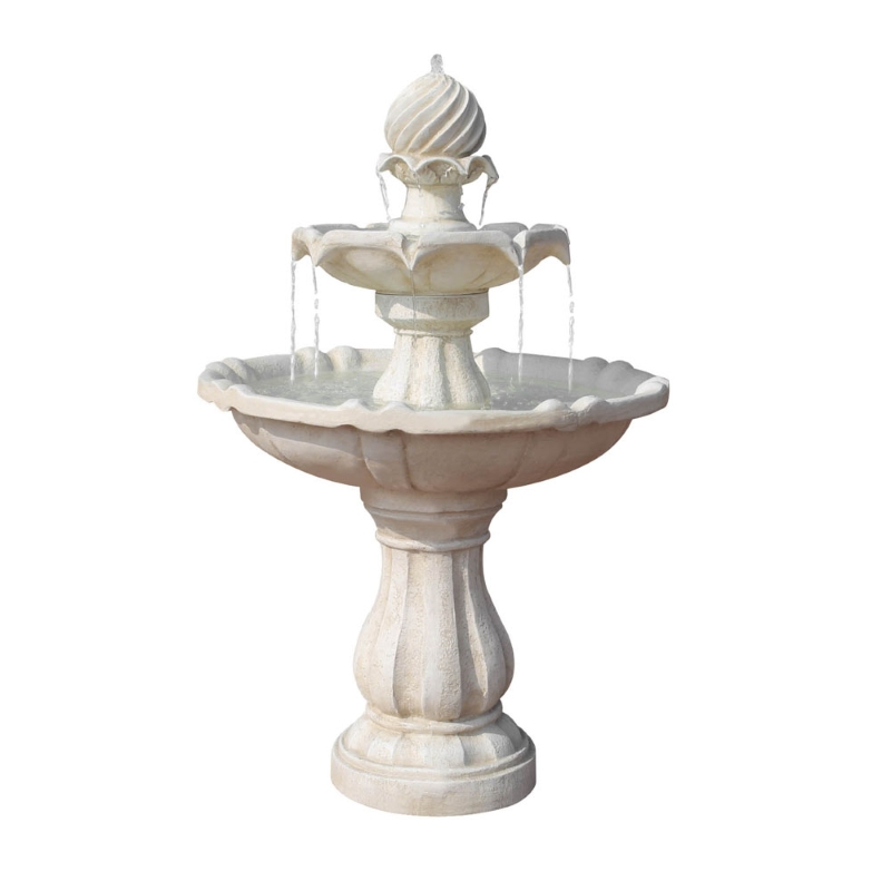 Gardeon 3 Tier Solar Powered Water Fountain Ivory Buy